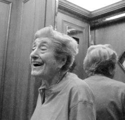 Herta in elevator