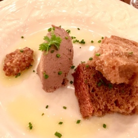 Chicken Liver Pate by chef Dre Neeley, served with bread by Ben Campbell at Gravy.